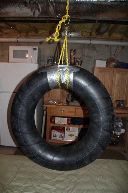 DIY inner tube swing (tireswing2 by mlcassid, via Flickr