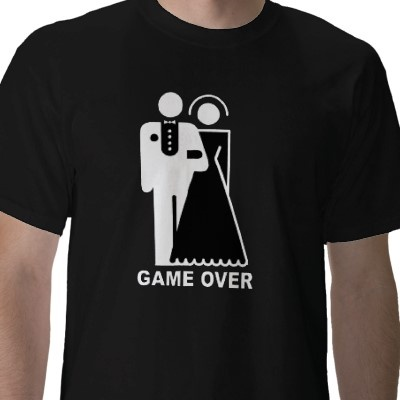 Game Over t-shirt from http://www.zazzle.com/bride+and+groom+gifts