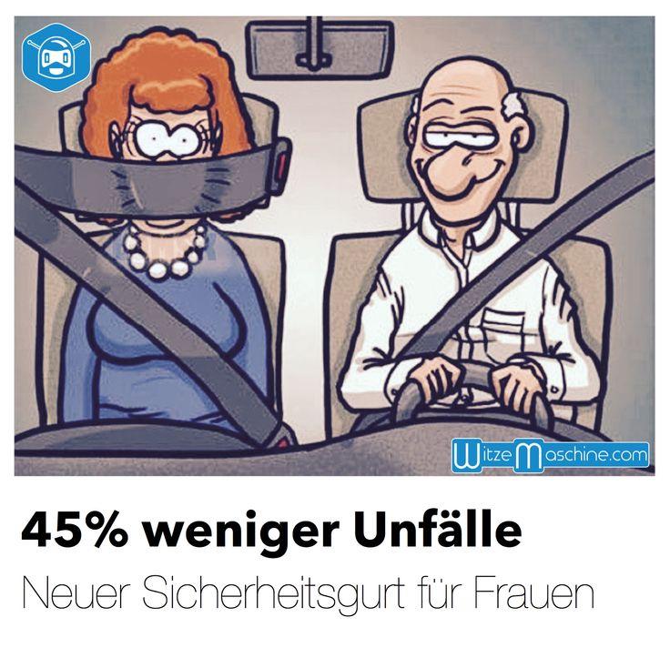 Autofahrer Witze - Neuer Gurt: 45% weniger Unfälle | WitzeMaschine