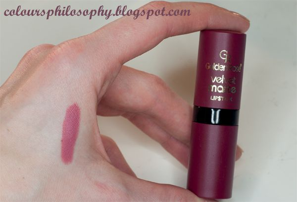 ColourPhilosophy: Golden Rose - Velvet Matte Lipstick 02