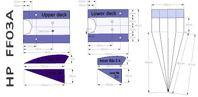 DIY - How to Make a Tyvek Flowform Kite  http://davewirth.blogspot.com/2012/04/diy-how-to-make-tyvek-flow-form-kite.html  How to make a kite out of Tyvek house wrap.  Plans, instructions and material list to make this great simple parafoil kite.  AutoCAD, FF03A, Flow-form kite, house wrap, Lowes, Menards, non-woven wrap, NovaWrap, pattern, Tape, Tyvek Kite