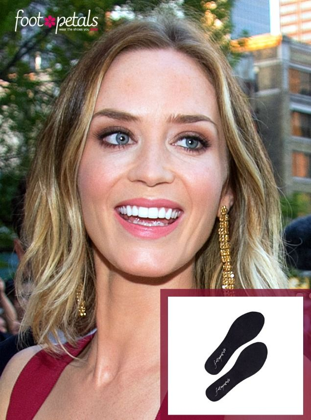 Emily Blunt's Go-To Foot Cushion: Sock-Free Saviors! #FootPetals