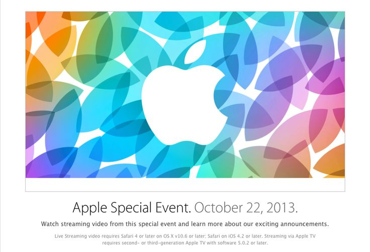 Apple to live stream 22nd October event on Apple's official website