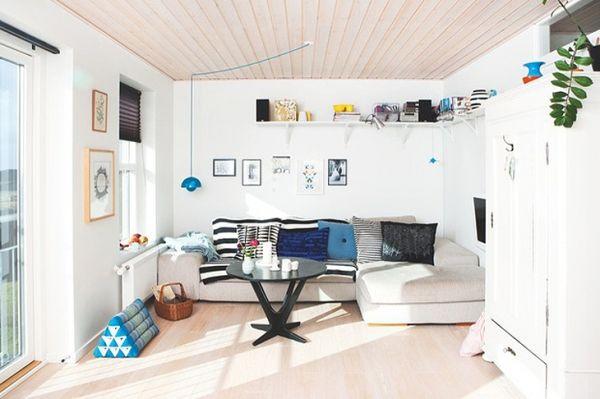 Wooden ceilings in a Scandinavian house