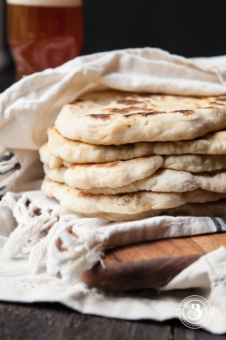 No yeast 20-minute Beer Flat Bread by thebeeroness:Pillowy soft. #Flat_Bread #Fast #Easy