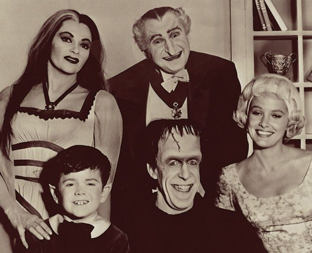 The Munsters aired for two seasons in the 1960s, but the sitcom lives on like the undead thanks to syndication. (Photo: CBS)