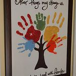 Family Handprint Tree | Beneath My Heart from http://naptimedecorator.blogspot.com/2011/11/family-handprint-tree.html