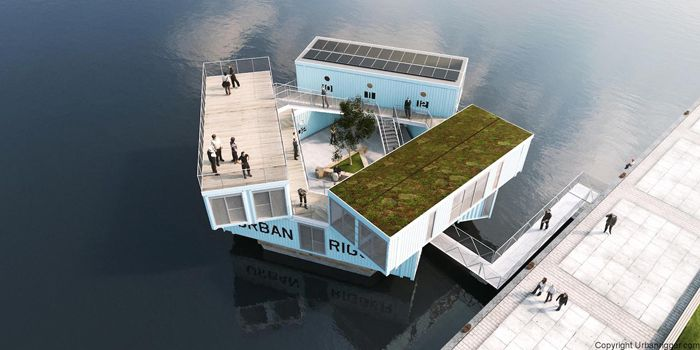 学生の住居問題を解決するために生まれたコンテナ製ドミトリー「Urban Rigger」は、住居費の高い北欧・コペンハーゲンで始まったプロジェクト。水上にドミトリーを作ることで、家賃や場所の問題の解決を目指すおしゃなアパート。1