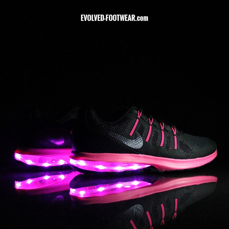 Nike Air Max Dynasty retrofitted with our PINK LEDs! #nike #lightupshoes
