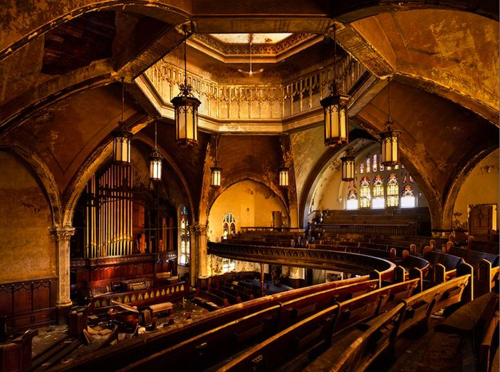 cinemaAbandoned Cities, Protest Church, Katherine Westerhout, Beautiful, Abandoned Buildings, Detroit, Forgotten, Abandoned Places, Abandoned Church