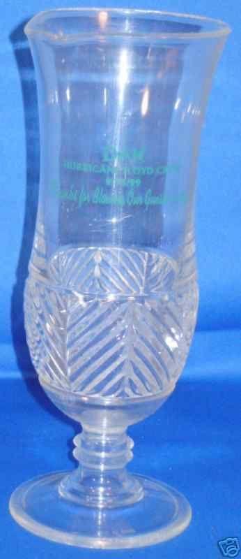 DISNEY ANIMAL KINGDOM HURRICANE FLOYD CREW 1999 GLASS