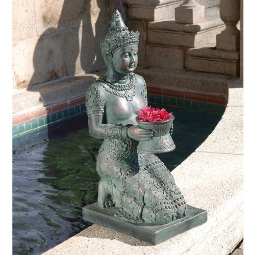 Thai Princess Sculpture by Design Toscano. $119.00. Design Toscano exclusive. Cast in quality designer resin. Verdigris Bronze Finish. When you long for a quiet spot for meditation, add the peace of our Thai Princess! With the inspirational tranquility of her ancient culture, she is 2.5 feet of calm countenance and endless serenity. Cast in quality designer resin and intricately hand-painted to replicate verdigris bronze, this fine Toscano exclusive is a timeless scu...