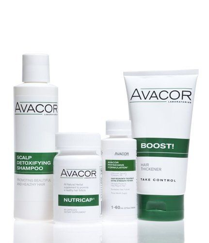 Avacor® For Men 9 Month Supply Package (4 Different Products) by Avacor®. $269.94. Pattern Baldness Treatment. Male hair loss treatment, Comprehensive Hair Loss Treatment. Regrow New Hair, Men's Hair Loss Treatment. Revitalizes Hair Follicles, Thick Hair, Thicker Hair. Stops Hair Loss, Hair Loss Treatment. The Avacor® Supply Packages are a comprehensive approach to fighting hair loss. This suite of Avacor® products is designed to fight hair loss, regrow new hair & prom...