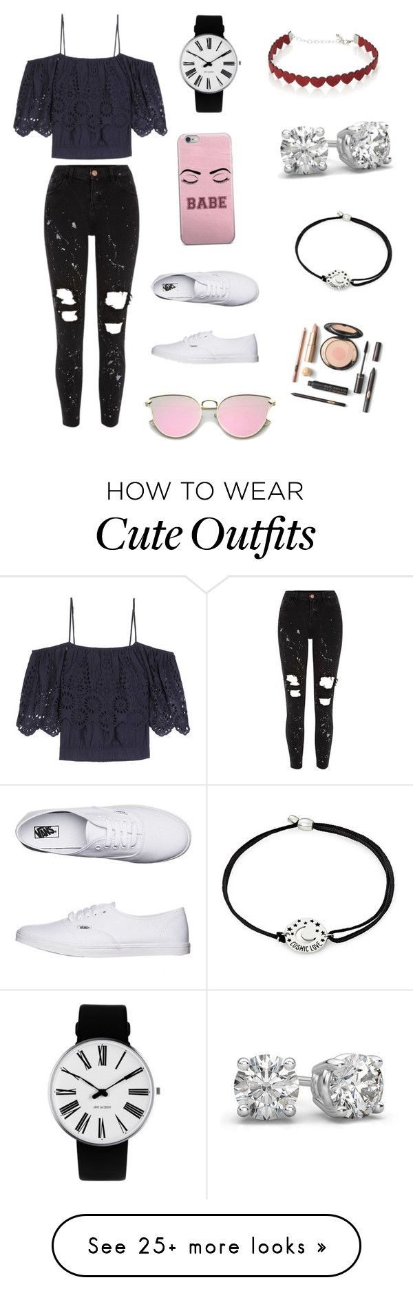 """Cute casual Outfit ☺️"" by lsantana13 on Polyvore featuring Ganni, River Island, Vans, Simons, Alex and Ani and Rosendahl"