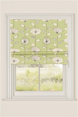 Buy Green Retro Flower Print Roman Blinds online today at Next Direct Rep. of Ireland