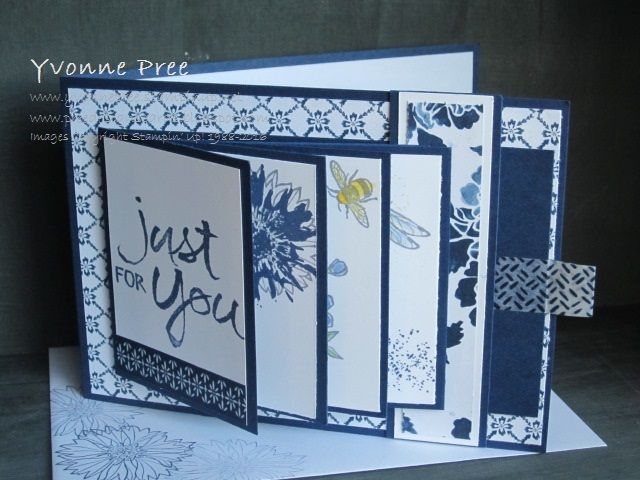 Side Waterfall, Waterfall, Interactive Card, Touches of Texture, Watercolor Words, 2016-17 Catalogue, Stampin' Up!, Yvonne Pree, Pree Designs