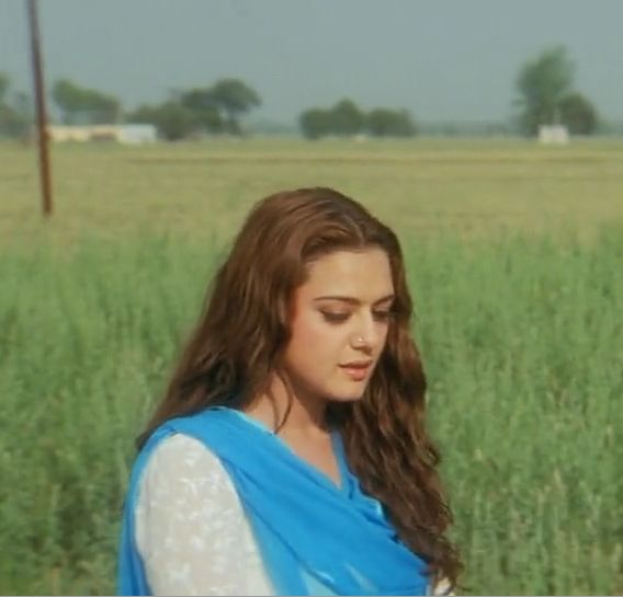 Preity Zinta in Veer Zaara. That hair.