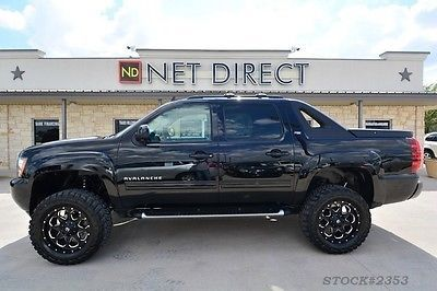 Chevrolet : Avalanche LT Crew Cab LIFTED Z71 4X4 Truck new lift tires rims Bluetooth 4WD leather 1 owner bed cover Texas camera