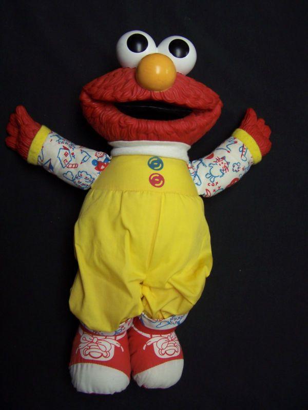 "VINTAGE 15"" ELMO DOLL SESAME STREET PLAYSKOOL HANSON RUBBER HEAD HANDS MUPPETS - http://hobbies-toys.goshoppins.com/tv-movie-character-toys/vintage-15-elmo-doll-sesame-street-playskool-hanson-rubber-head-hands-muppets/"