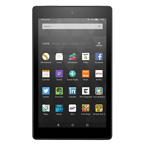 """Buy New Amazon Fire HD 8 Tablet, Quad-Core, Fire OS, Wi-Fi, 32GB, 8"""" Screen, Black Online at johnlewis.com"""