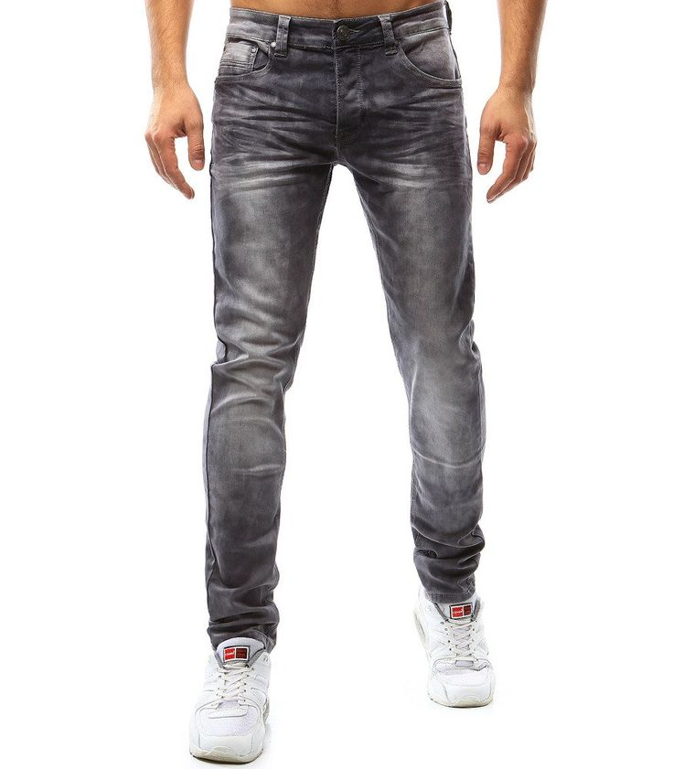 Pánske džínsové šedé nohavice