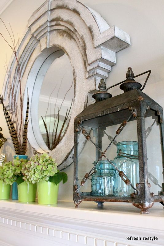 LOVE this mirror frame... makes me want to try to make one just like it in the shop... mainly for the technical / skill level required to make those fantastic staggered, radiused pieces... But I'd do a larger mirror... much larger.