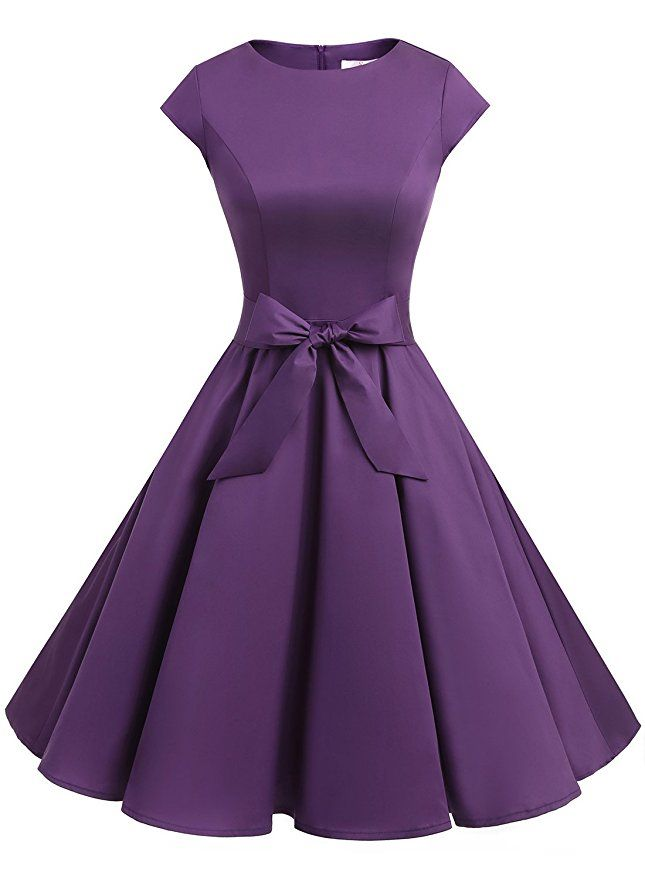 AmazonSmile: Dressystar Women Vintage 1950s Retro Rockabilly Prom Dresses Cap-sleeve: Clothing