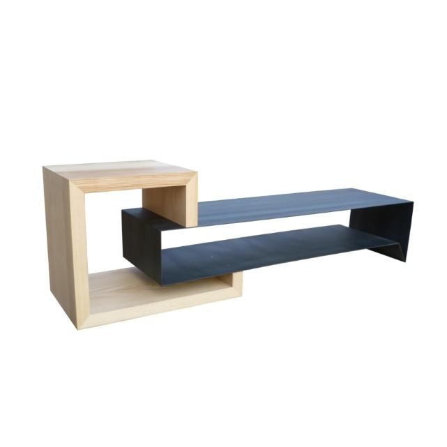 Best 10 meuble tv bois metal ideas on pinterest console for Meuble tv metal