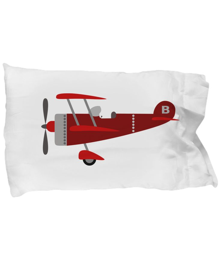 Airplane Pillowcase, Kid's B Airplane Bedding, Cartoon Airplane Pillowcase for Boy's Room