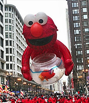 A giant inflatable balloon at Chicago's Thanksgiving Day Parade.