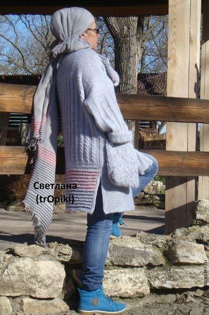 Кофты и свитера ручной работы. Заказать Авторский вязаный жакет в стиле бохо. Светлана Волкодав. Ярмарка Мастеров. Кардиган вязаный