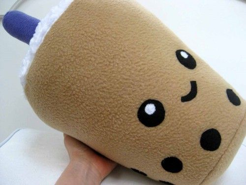 """Title: LARGE BOBA BUBBLE TEA plush pillow. I love bubble tea with its yummy chewy tapioca pearls! Measuring approximately 1.5 feet high (includes straw) and over 29"""" all the way around at its wide"""