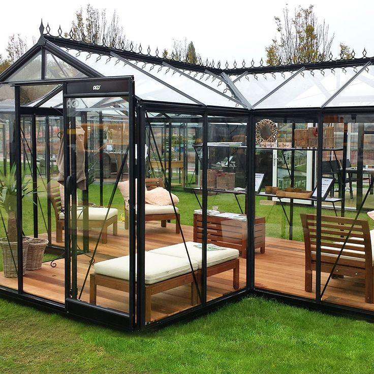 Orangeri Babette med säkerhetsglas med aluminiumprofiler #Växthus #Orangeri #Uterum #Babette