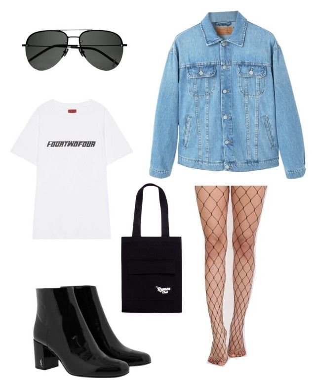 """Geen titel #19"" by shanisiavniel on Polyvore featuring mode, 424, Yves Saint Laurent, Pilot, MANGO en Song for the Mute"