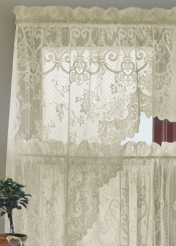 45 Best Lace Curtains Images On Pinterest Ivory Plants