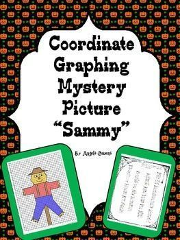 "Halloween Coordinate Graphing Mystery Picture ""Sammy"""