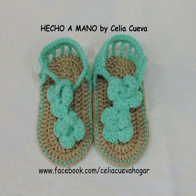 67 best Zapatos para bebés a crochet images on Pinterest | Para ...