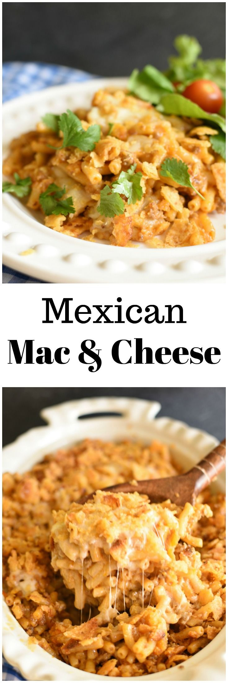 Mexican Mac and Cheese is one of those meals you can make with ingredients straight from the pantry! Plus check out my hacks on how to stock your pantry! AD