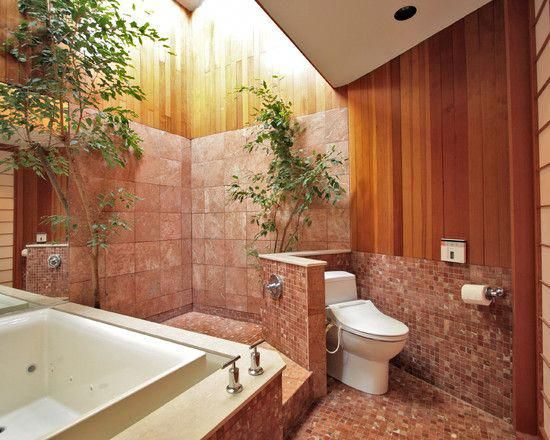 Open-air bathroom asian home