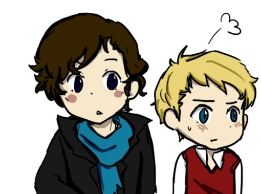 Johnlock - This is ADORABLE! <3
