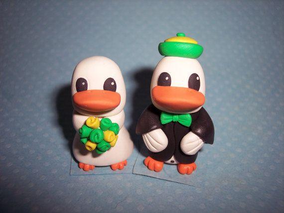 Oregon Duck Wedding Cake Toppers