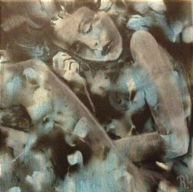#20x20#canvas#acrylic,alkyd#sleep#rithva.dk