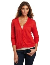 Margaret O'Leary Women's Double Layer Vee Cardigan