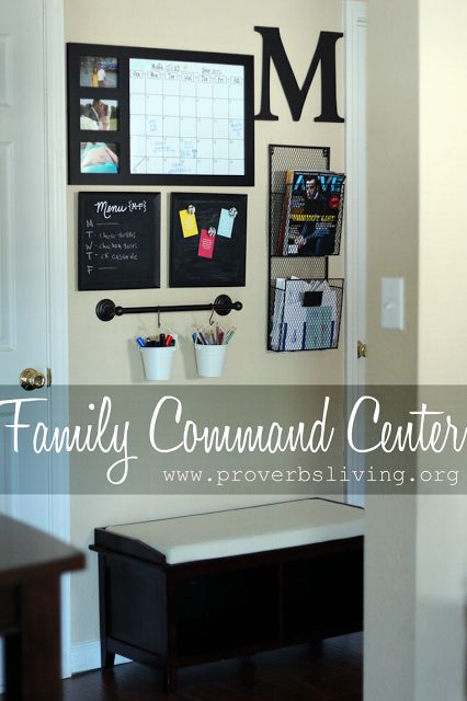 Family Command Center: Great post sharing where to find items to put together a family command center! www.proverbsliving.org
