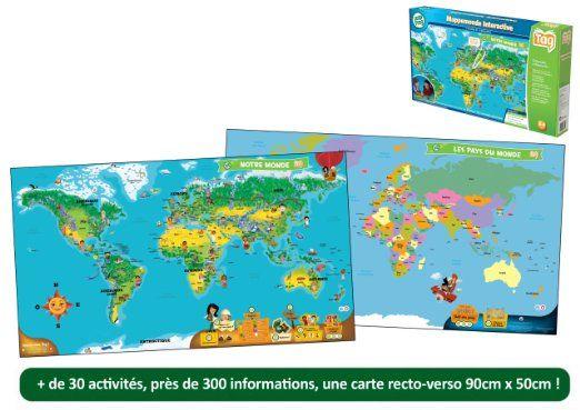 Leapfrog - 80885 - Jeu Educatif - TAG - Mappemonde Interactive (lecteur Tag non inclus): Amazon.fr: Jeux et Jouets