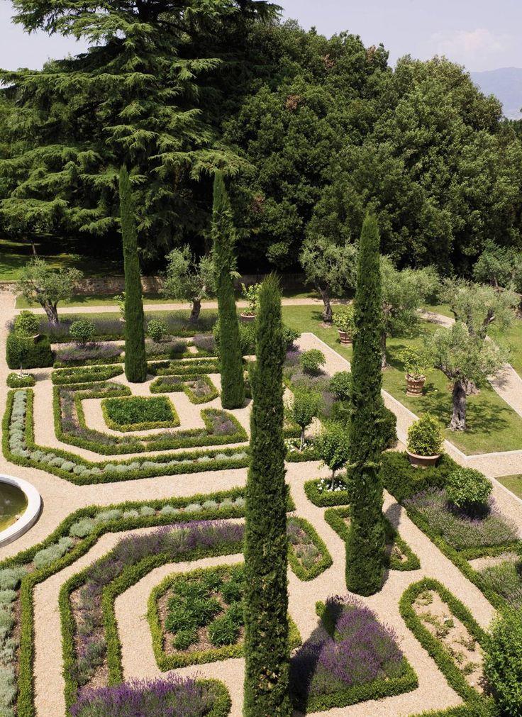rustic garden by arabella lennox boyd in tuscany italy