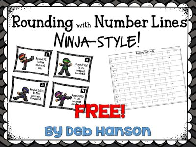 FREE Rounding Numbers Task Cards using the number line method. Two free matching posters and a matching anchor chart are also shared!