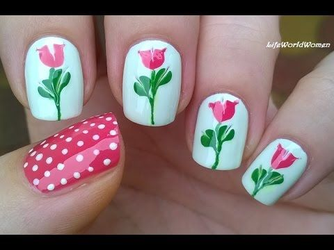 NEEDLE & TOOTHPICK NAIL ART - No Special Tool Needed Floral Nails - YouTube