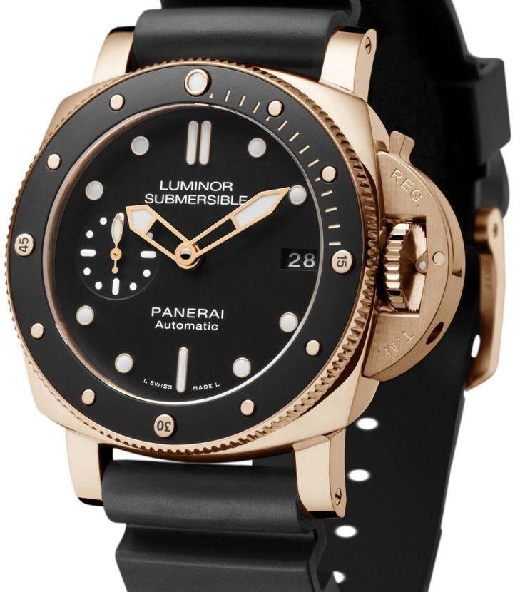 Panerai Submersible 1950 : 42 mm et en or !