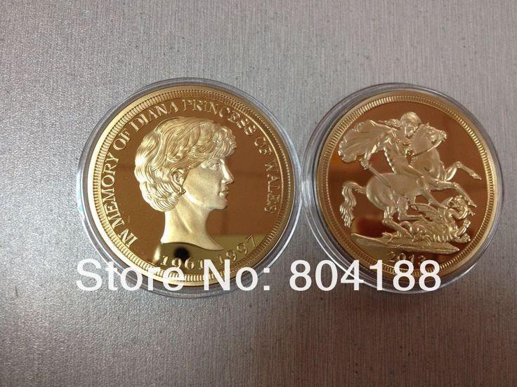 Заказ образца Принцесса диана монеты Суверенный позолоченные монеты Суверенный Королевский Монетный Двор монеты бесплатная доставка 5 шт./лот